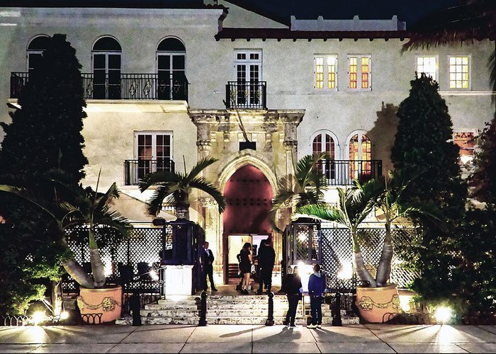 Versace Greeting Card featuring the photograph Versace Mansion South Beach by Gary Dean Mercer Clark