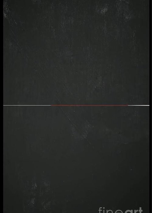 Blackboard Divided Greeting Card featuring the painting Vertical Blackboard by Archangelus Gallery