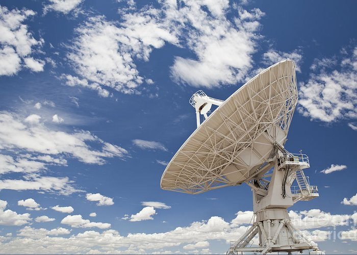 Antenna Greeting Card featuring the photograph Very Large Array Antenna by Bryan Mullennix