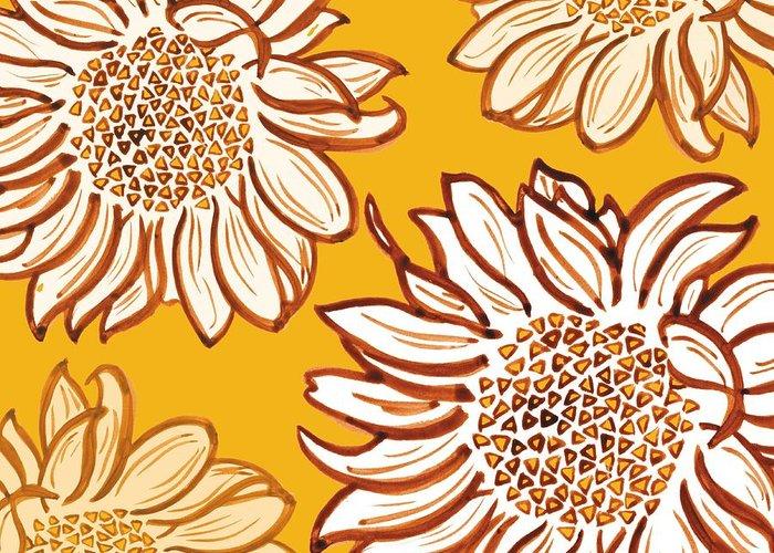Digital Sunflower Greeting Cards