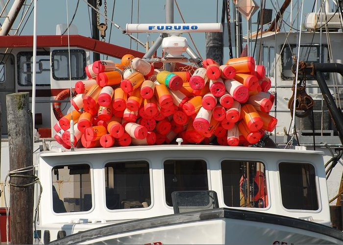 Commercial Fishing Boats Greeting Card featuring the photograph Vessel 73 by Joyce StJames