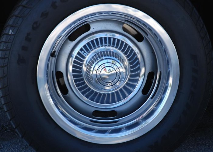 Corvette Greeting Card featuring the photograph Vette Wheel by Rob Hans
