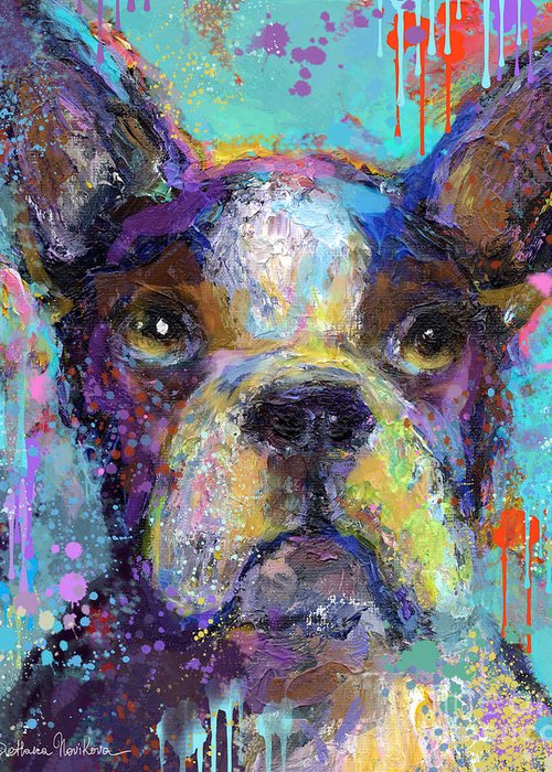 Dog Portraits Mixed Media Greeting Cards