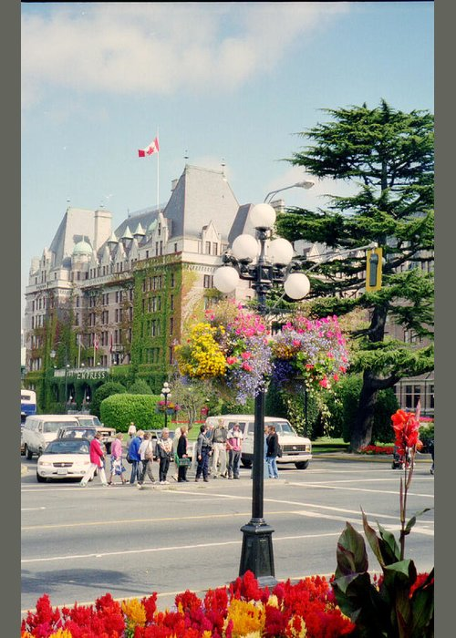 Victoria Bc Greeting Card featuring the photograph Victoria, Bc by Maro Kentros
