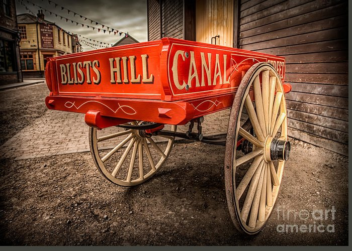 Vintage Greeting Card featuring the photograph Victorian Cart by Adrian Evans