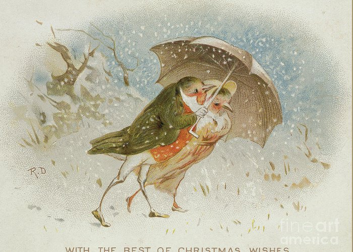 Victorian Christmas Card Greeting Card For Sale By Robert Dudley