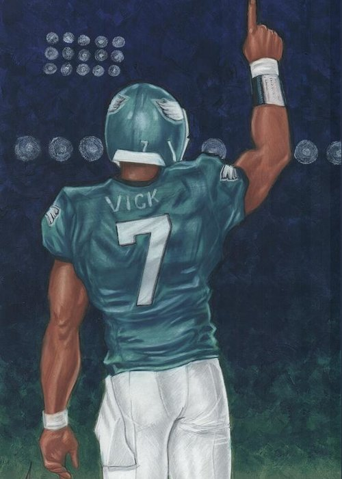 Nfl Greeting Card featuring the painting Victorious by Clive ARNO