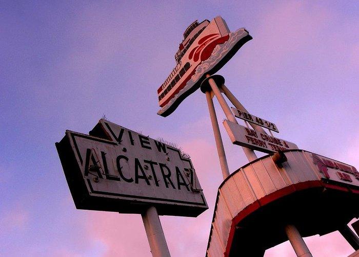 Signs Greeting Card featuring the photograph View Alcatraz by Elizabeth Hoskinson