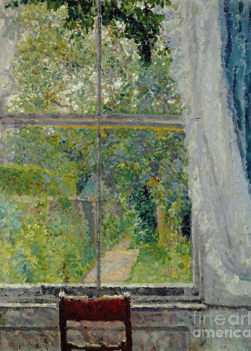 View Greeting Card featuring the painting View From A Window by Spencer Frederick Gore