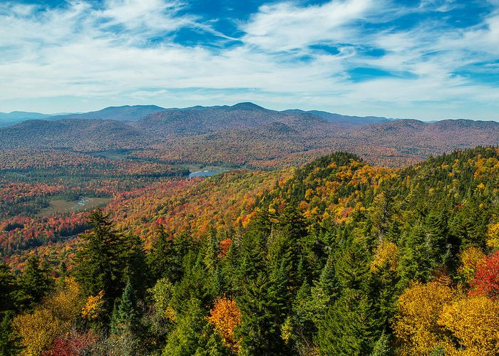 Mountain Greeting Card featuring the photograph View From Goodnow by Terry Hawthorne