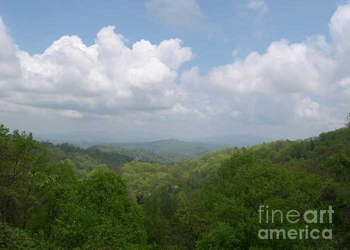 Mountains Greeting Card featuring the photograph View From Ober Gatlinburg by Barb Montanye Meseroll