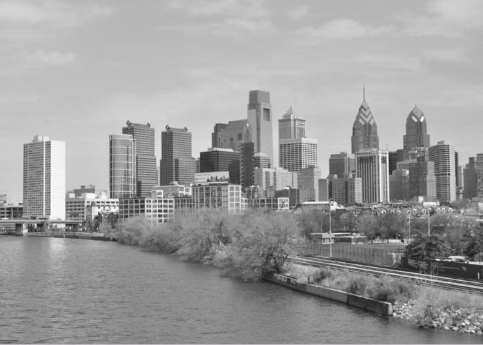 Philly Greeting Card featuring the photograph View From The New S.st. Bridge by Brynn Ditsche