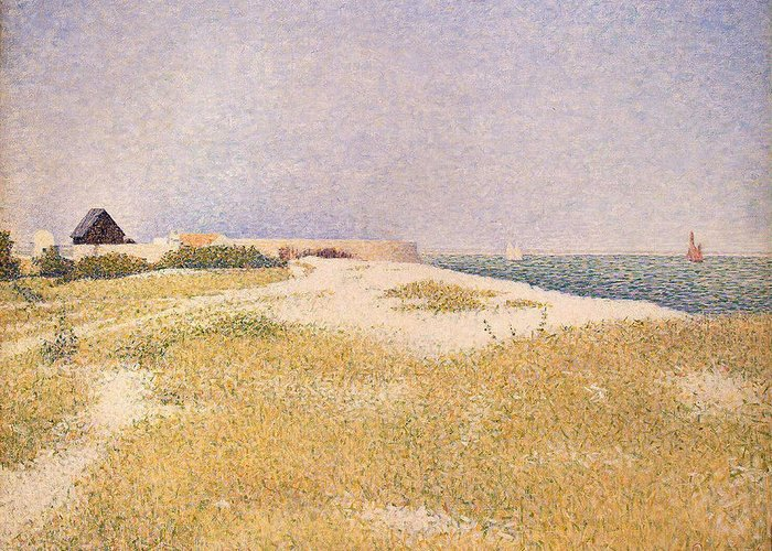 Seurat Greeting Card featuring the painting View Of Fort Samson by Georges Pierre Seurat