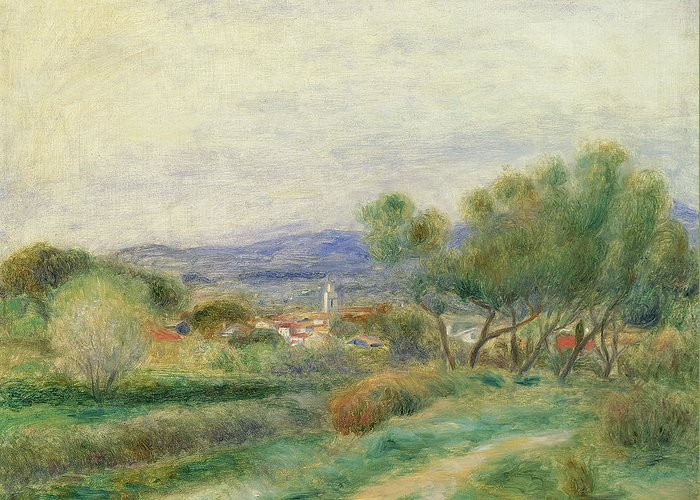 View Of La Seyne Greeting Card featuring the painting View Of La Seyne by Pierre Auguste Renoir
