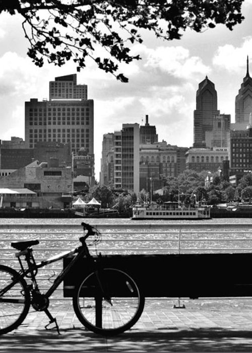 Philadelphia Greeting Card featuring the photograph View Of Philadelphia by Andrew Dinh
