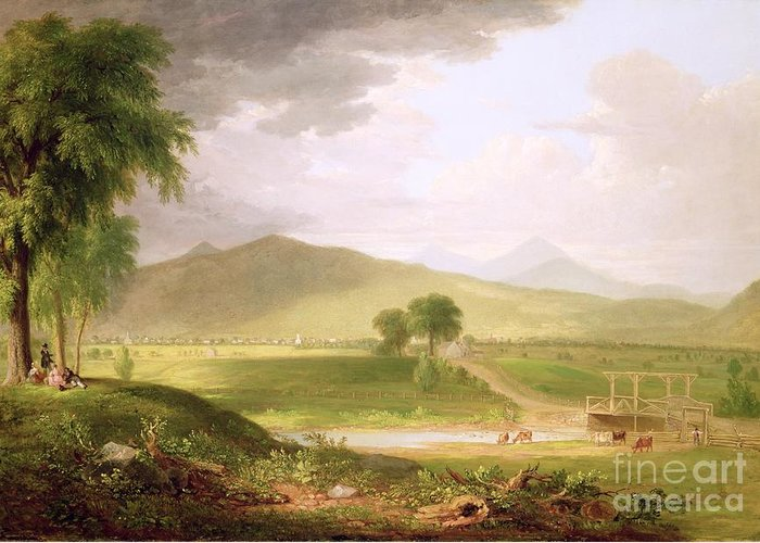 View Greeting Card featuring the painting View Of Rutland - Vermont by Asher Brown Durand