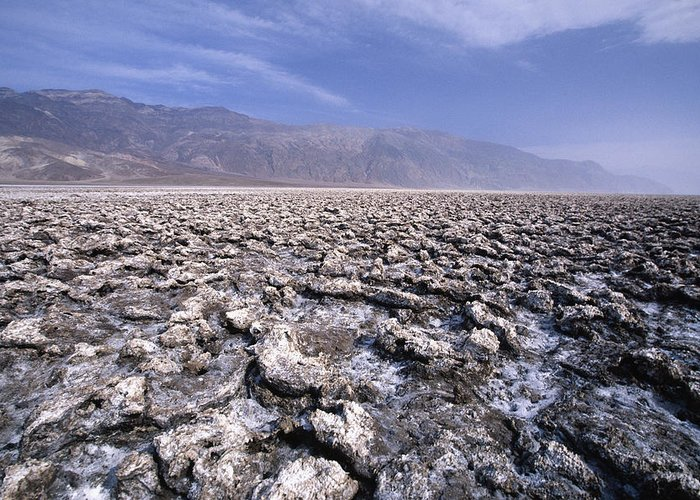 Arid Greeting Card featuring the photograph View Of The Devil's Golf Course Death Valley California by George Oze
