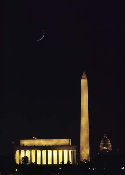 North America Greeting Card featuring the photograph View Of The Lincoln And Washington by Karen Kasmauski