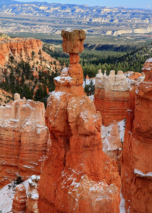 Bryce Greeting Card featuring the photograph View Of Thor's Hammer In Bryce Canyon by Pierre Leclerc Photography