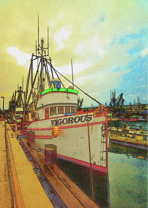 Boat Greeting Card featuring the photograph Vigorous by Dale Stillman