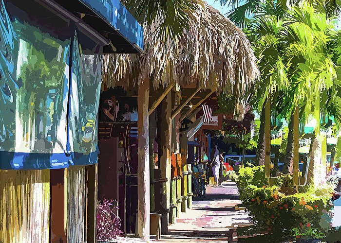 Susan Molnar Greeting Card featuring the photograph Village Life II - Siesta Key by Susan Molnar