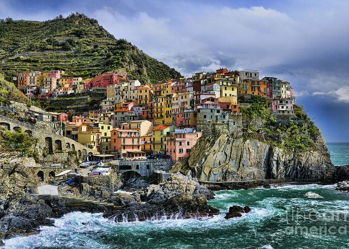 Europe Greeting Card featuring the photograph Village Of Manarola - Cinque Terre - Italy by JH Photo Service