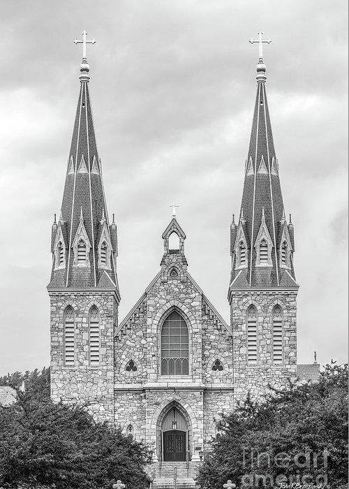 Order Of Saint Augustine Greeting Card featuring the photograph Villanova University St. Thomas Of Villanova Church by University Icons