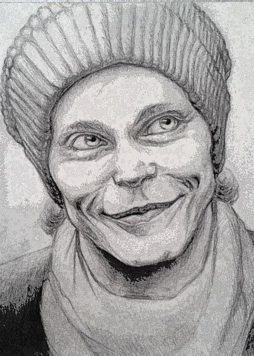 Ville Valo Greeting Card featuring the drawing Ville Valo by Angelina Ruseva