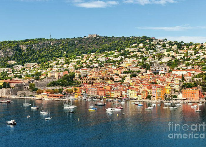 Villefranche-sur-mer Greeting Card featuring the photograph Villefranche-sur-mer by Elena Elisseeva