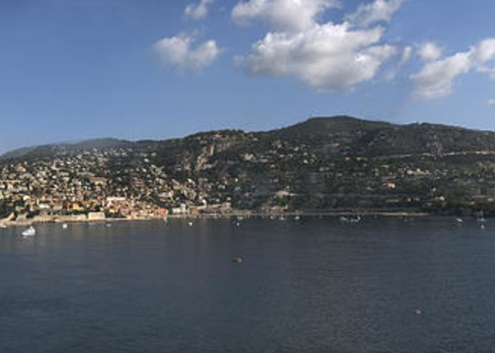 Villefranche Greeting Card featuring the photograph Villefranche by Terence Davis