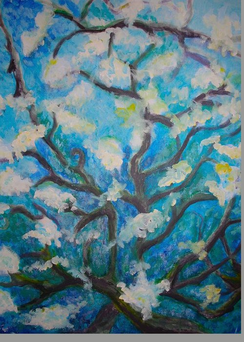 Impression Greeting Card featuring the painting Vines by William Burgess