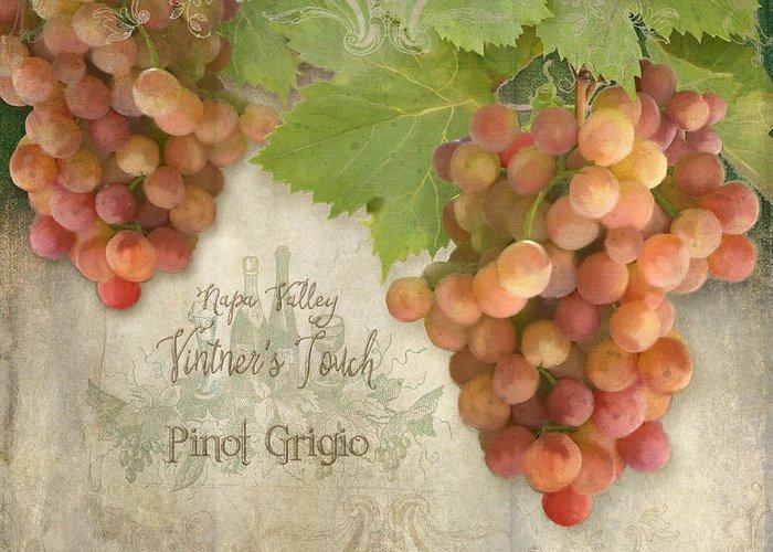 Vintage Wine Lovers Paintings Greeting Cards