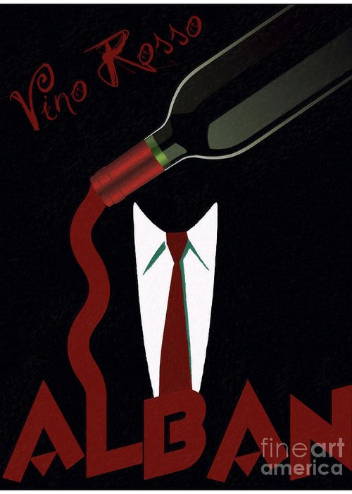Wine Greeting Card featuring the painting Vino Rosso by Cinema Photography