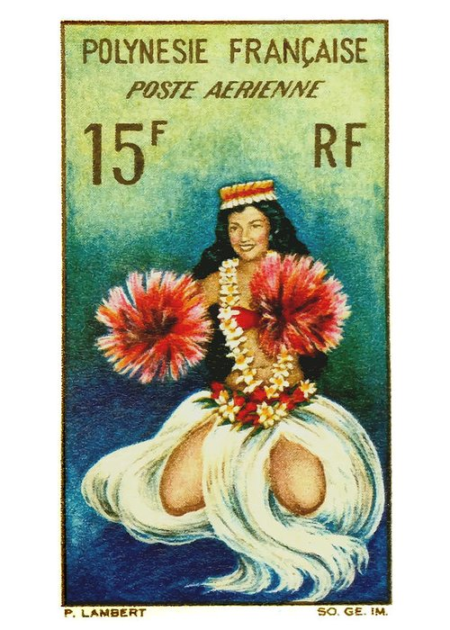 French Polynesia Greeting Cards