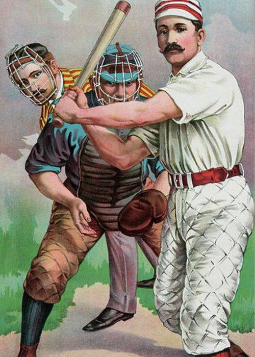 Softball Drawings Greeting Cards