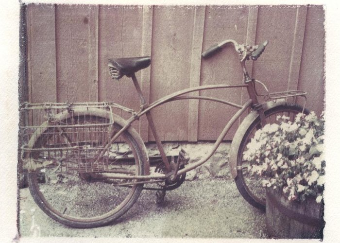 Bike Greeting Card featuring the photograph Vintage Bicycle by Jane Linders