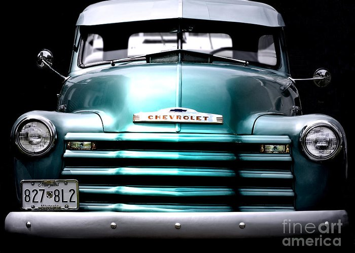 Vintage Greeting Card featuring the photograph Vintage Chevy 3100 Pickup Truck by Steven Digman