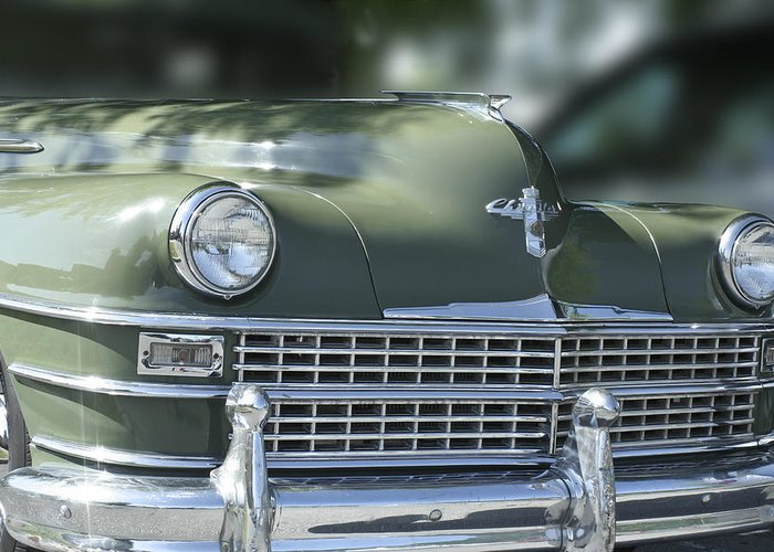 Car Greeting Card featuring the photograph Vintage Chrysler by Linda A Waterhouse