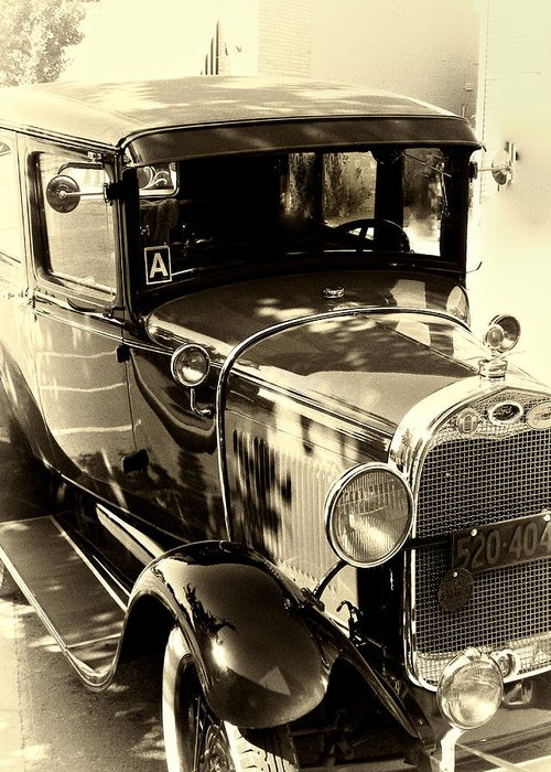 Old Car Greeting Card featuring the photograph Vintage Classic Ride by Julie Palencia
