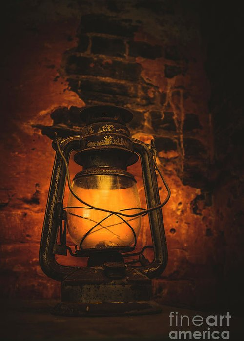 Lantern Greeting Card featuring the photograph Vintage Colonial Lantern by Jorgo Photography - Wall Art Gallery