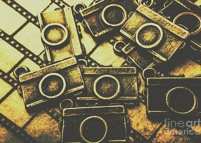 Photography Greeting Card featuring the photograph Vintage Film Camera Scene by Jorgo Photography - Wall Art Gallery