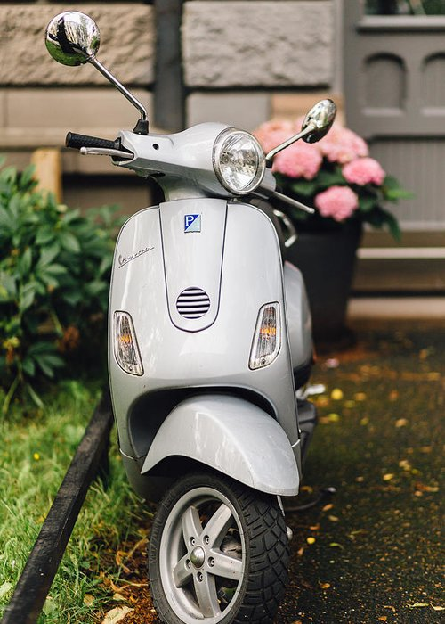 Motor Scooters Greeting Cards