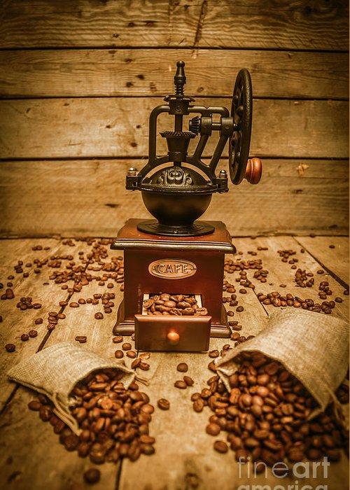 Antique Coffee Grinders Greeting Cards