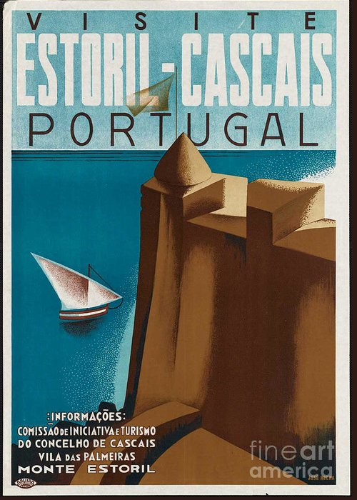 Portugal Greeting Card featuring the photograph Vintage Portugal Travel Poster by George Pedro