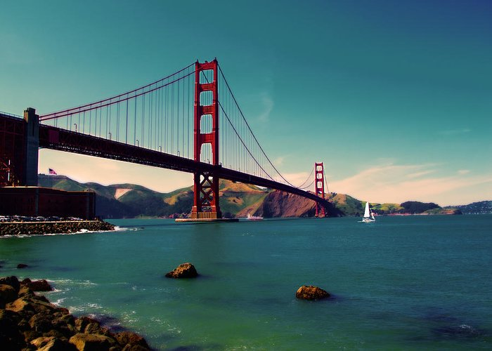 San Francisco Greeting Card featuring the photograph Vintage San Francisco by Niels Nielsen