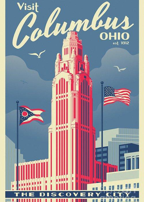 Columbus Tower Greeting Cards