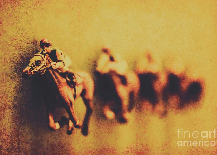 Horse Greeting Card featuring the photograph Vintage Trots by Jorgo Photography - Wall Art Gallery