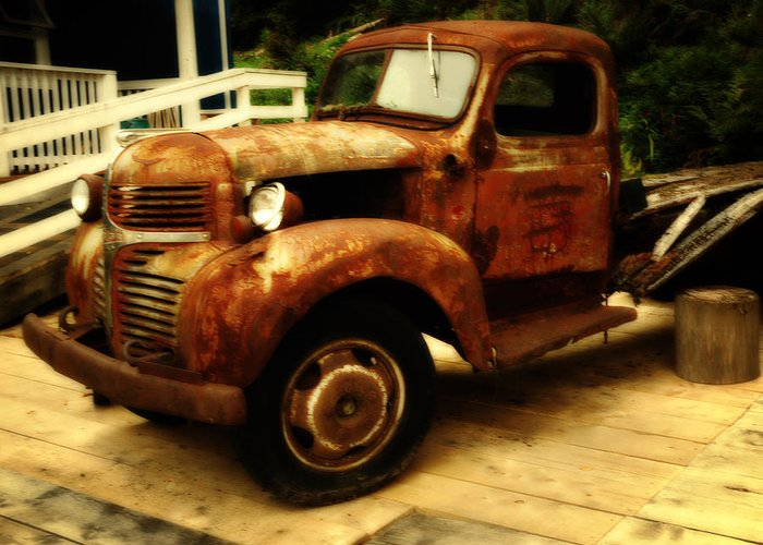 Vintage Trucks Greeting Card featuring the photograph Vintage Truck by Diane Smith