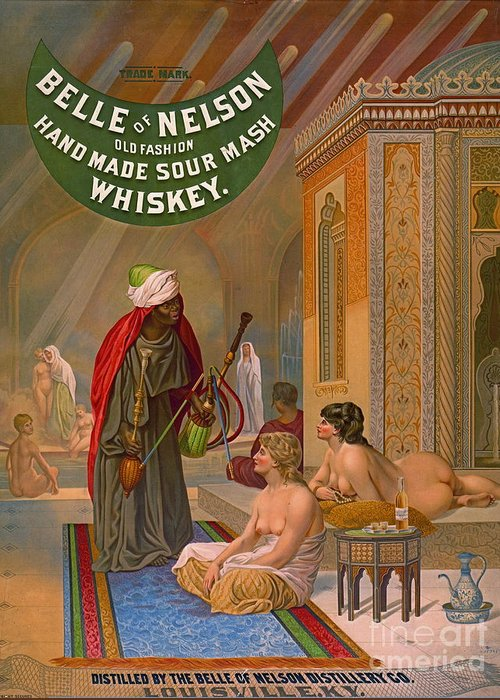 Vintage Whiskey Advertisement 1883 Greeting Card featuring the photograph Vintage Whiskey Ad 1883 by Padre Art