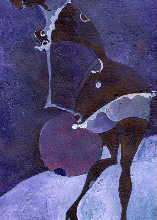 Violet Greeting Card featuring the painting Violet Snawball by Maya Manolova